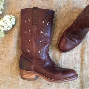Frye Billy Inlaid Pull On Leather Boots
